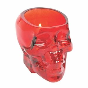 Gothic skull candle or flower holder